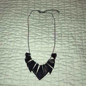 Topshop gunmetal statement necklace